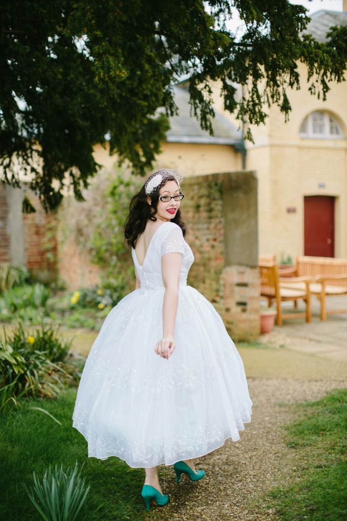 vintage wedding dresses from The National Vintage Wedding Fair