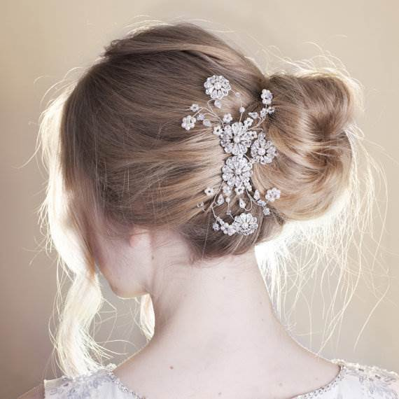 Etsy handmade crystal hair comb for National Vintage Wedding Fair by Kate Beavis