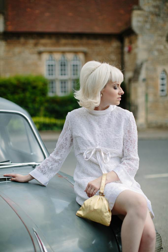 1960s vintage wedding by Kate Beavis, National Vintage Wedding Fair and Binky Nixon Photography