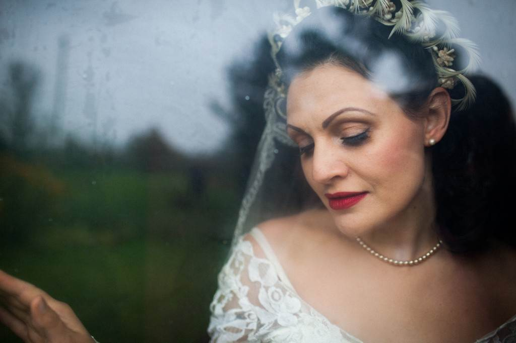 1940s vintage wedding dress by the National Vintage Wedding Fair by Sally Forder for Binky Nixon Photography
