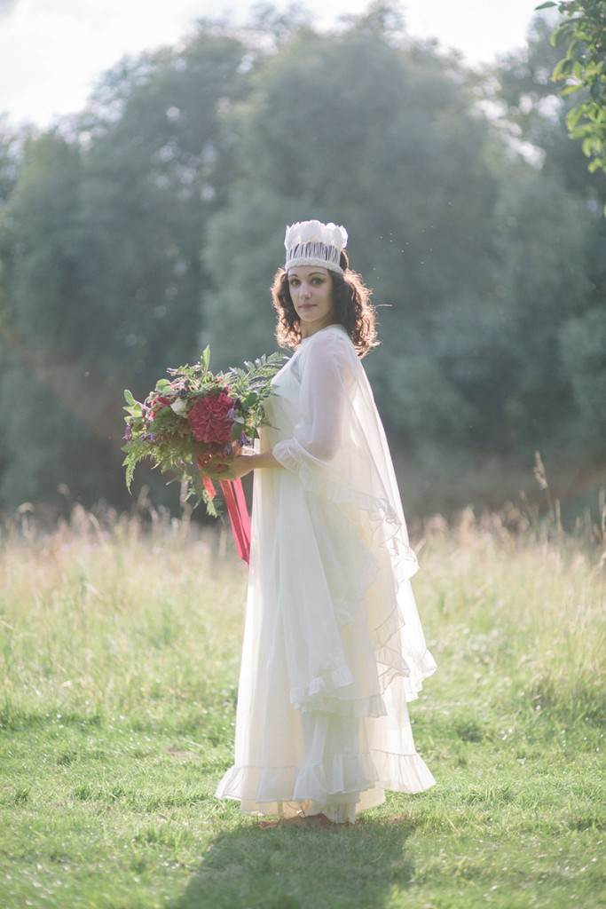 1970s vintage wedding dress by the National Vintage Wedding Fair