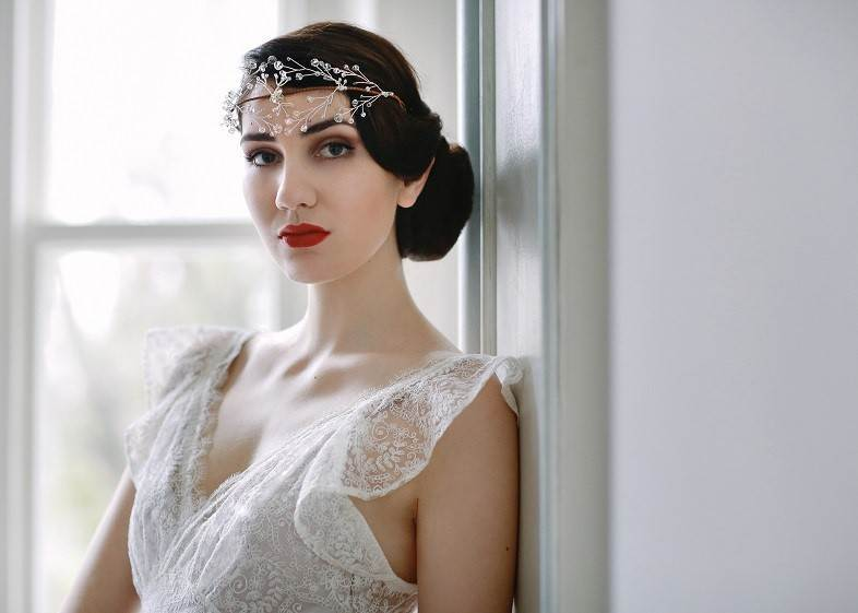Myrtle crystal head piece by Cherished via the National Vintage Wedding Fair vintage wedding dresses