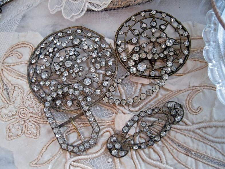 Vintage paste dress ornaments and buckles, Cherished.