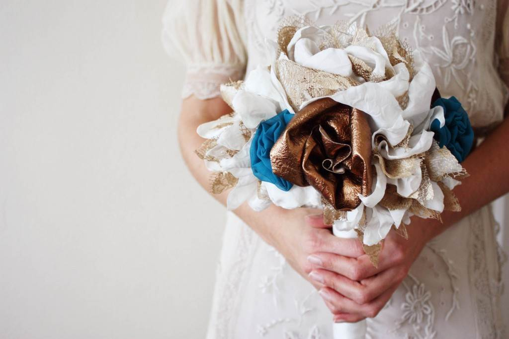 Vintage fabric bouquets from Daphne Rosa at the National Vintage Wedding Fair
