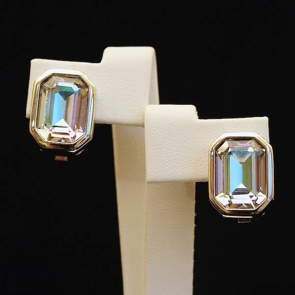 Earrings, Christian Dior  Available at Gemma Redmond Vintage