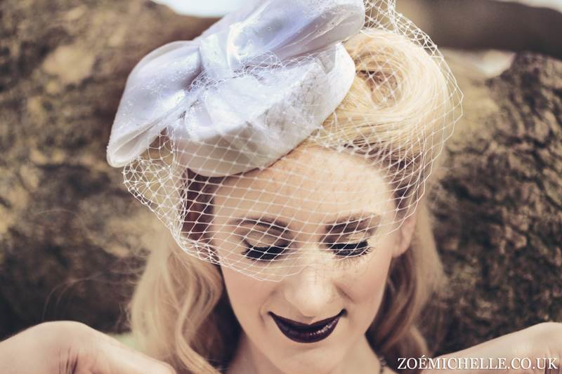 Esme vintage style hat by Jodi Mcfayden as featured on the National Vintage Wedding Fair