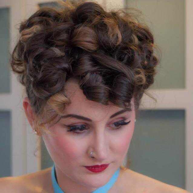 Vintage Wedding Hair by The Victory Salon as featured in the Unique Bride Journal
