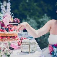Vintage tea party wedding shoot as featured on the National Vintage Wedding Fair blog