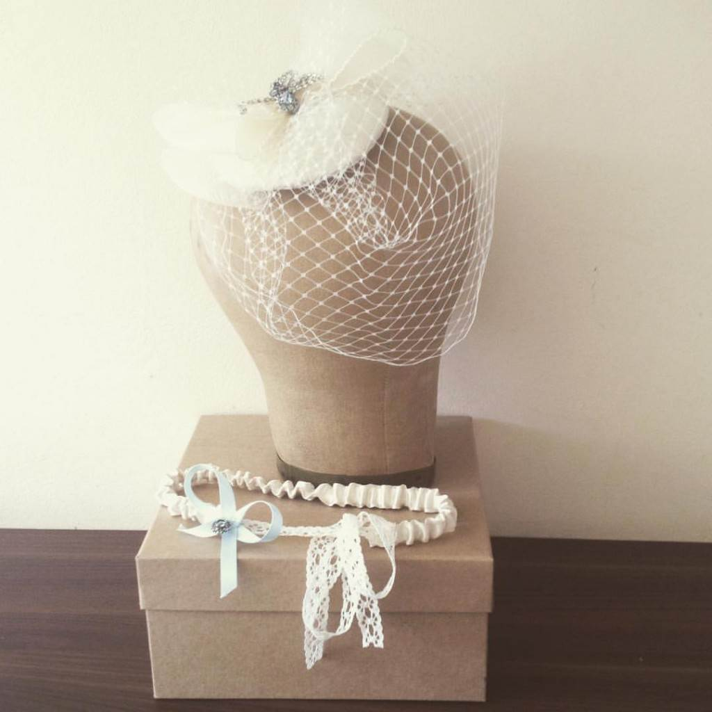 Birdcage Veil by Silver Sixpence In Her Shoe as featured on National Vintage Wedding Fair blog