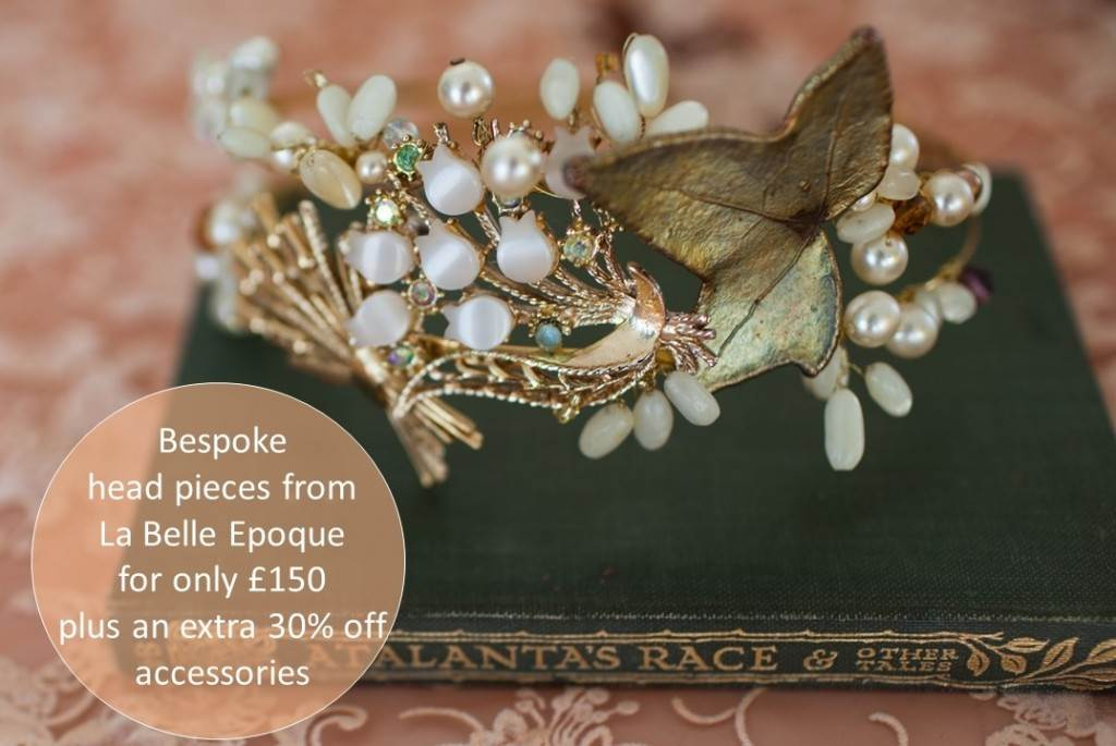 La Belle Epoque wedding accessories as see in the Unique Bride Journal
