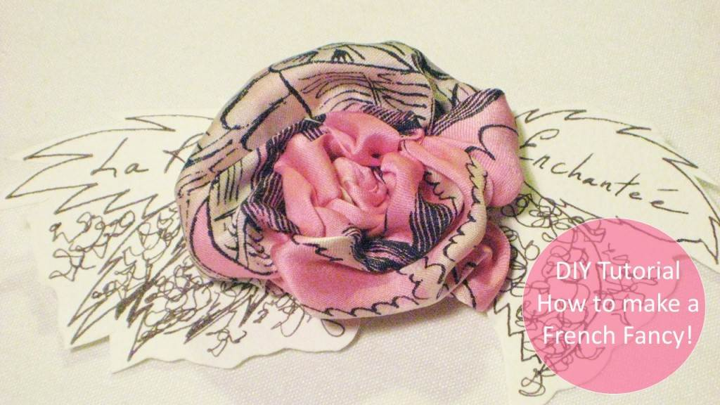 DIY tutorial to make a silk ribbon flower card from A Little Bird Said and Unique Bride Journal