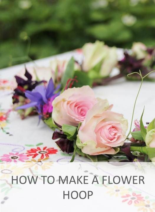 How to make a flower hoop
