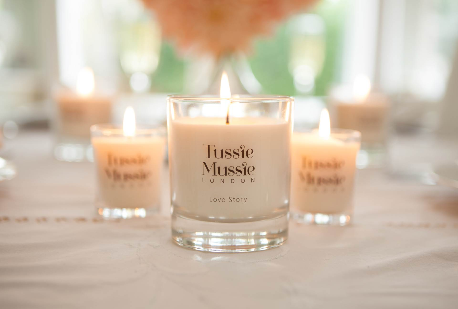 Using candles at your wedding by Tussie Mussie London and the National Vintage Wedding Fair