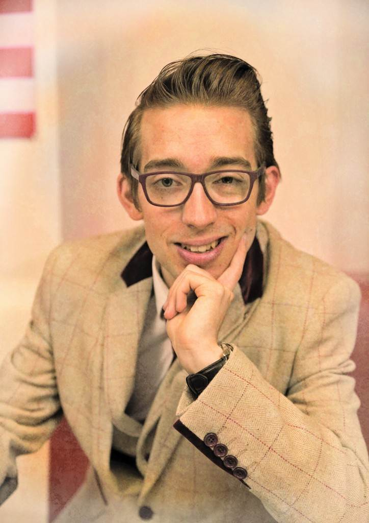 paul ace headshot in diner as featured on the National Vintage Wedding Fair