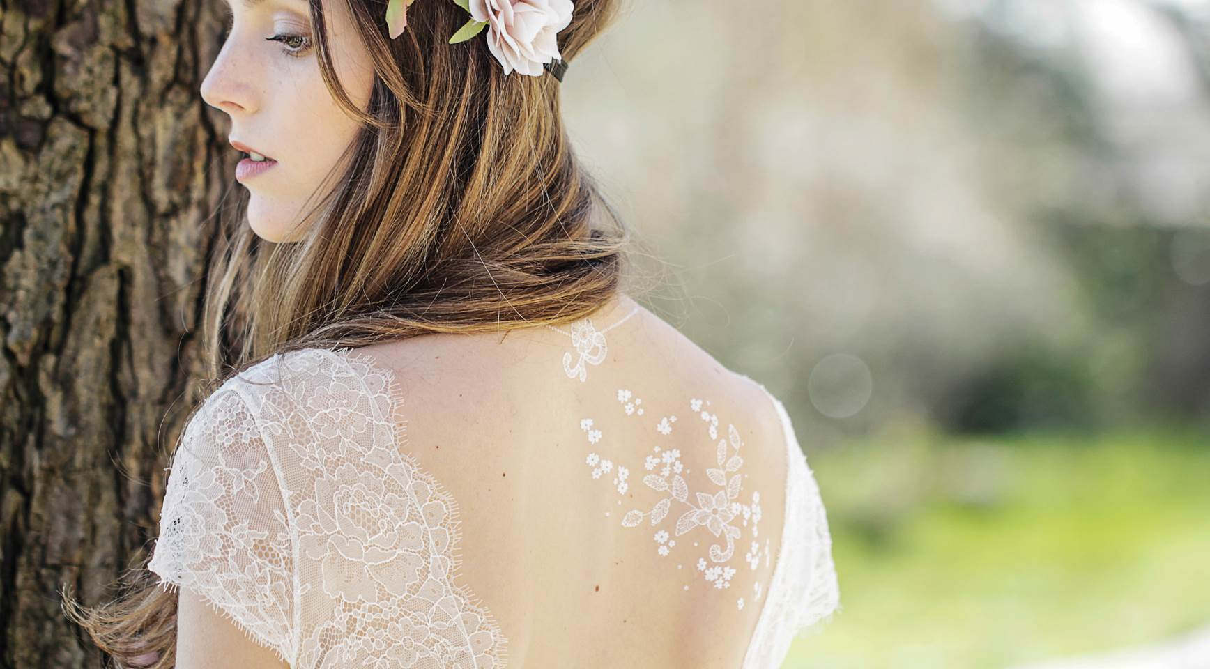 Temporary wedding tattoos by Sioou as featured on The National Vintage Wedding Fair