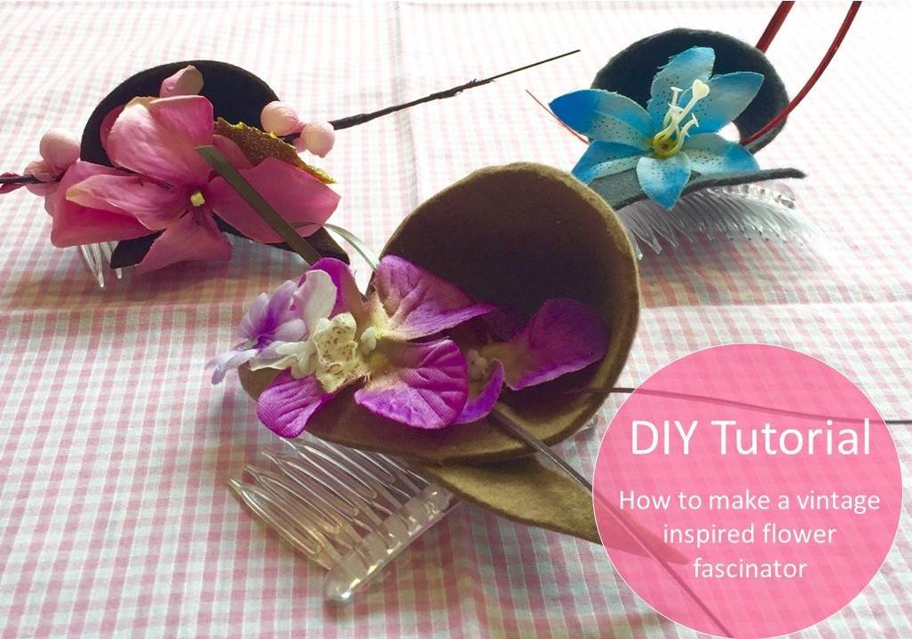 How to make a vintage inspired flower fascinator by the Glam Hatters for the Unique Bride Club as featured on The National Vintage Wedding Fair blog