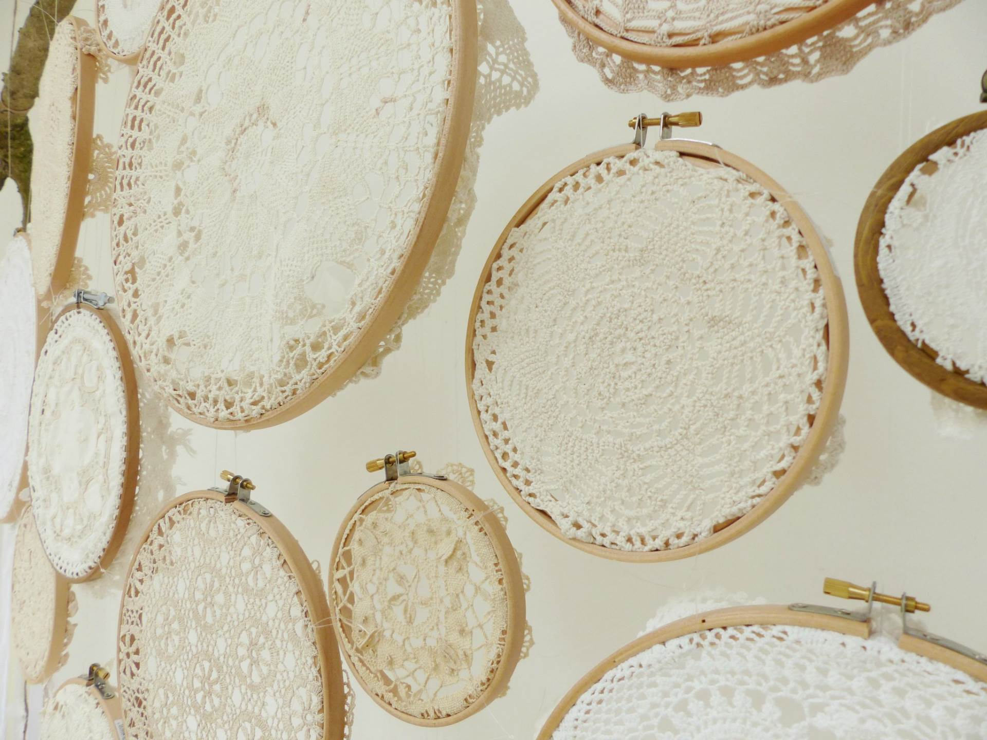 DIY Tutorial How to make a vintage doily wedding wall hanging by The National Vintage Wedding Fair blog 10