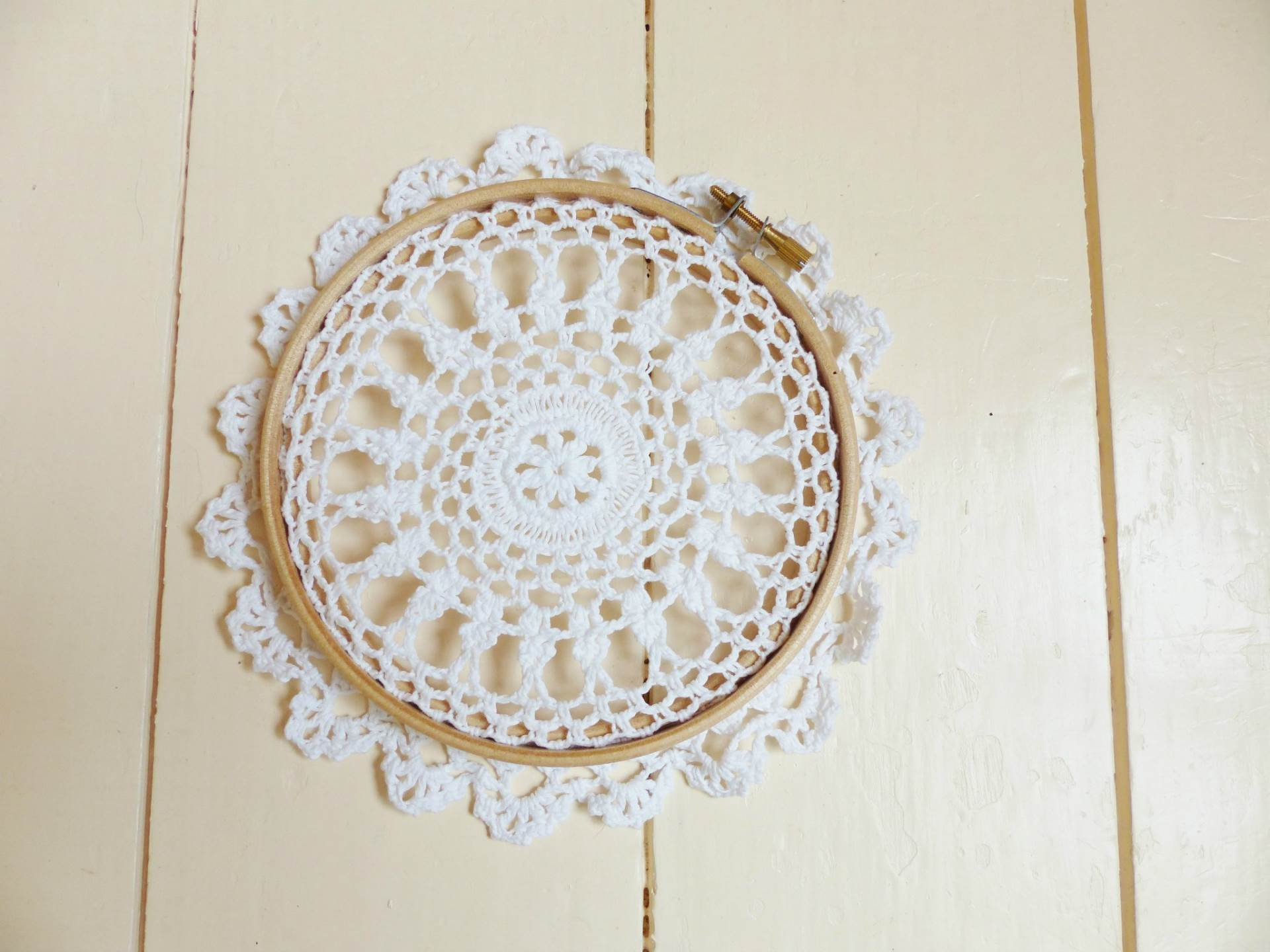 DIY Tutorial How to make a vintage doily wedding wall hanging by The National Vintage Wedding Fair blog 2