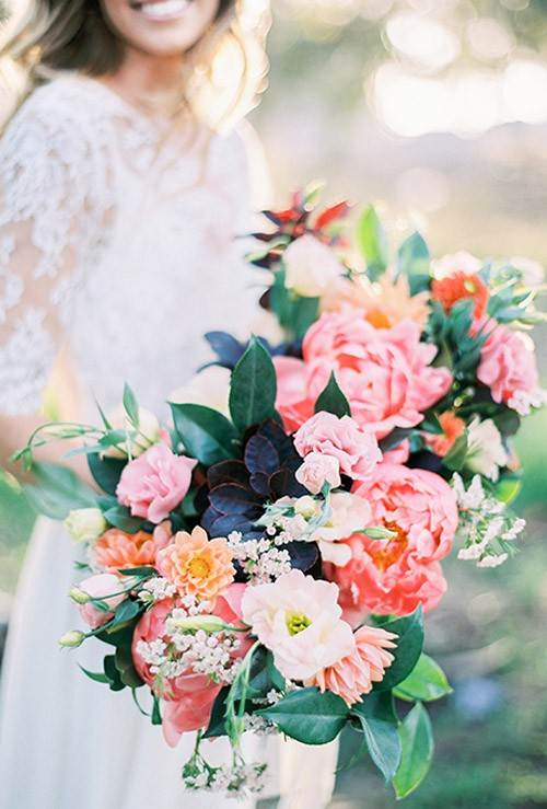 Wedding flowers by Natalie Bray as featured on The National Vintage Wedding Fair blog