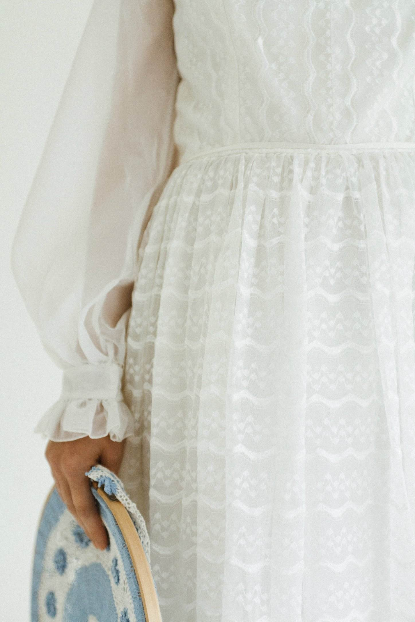 50 years of vintage wedding dresses photos by Claire Macintyre 1970s