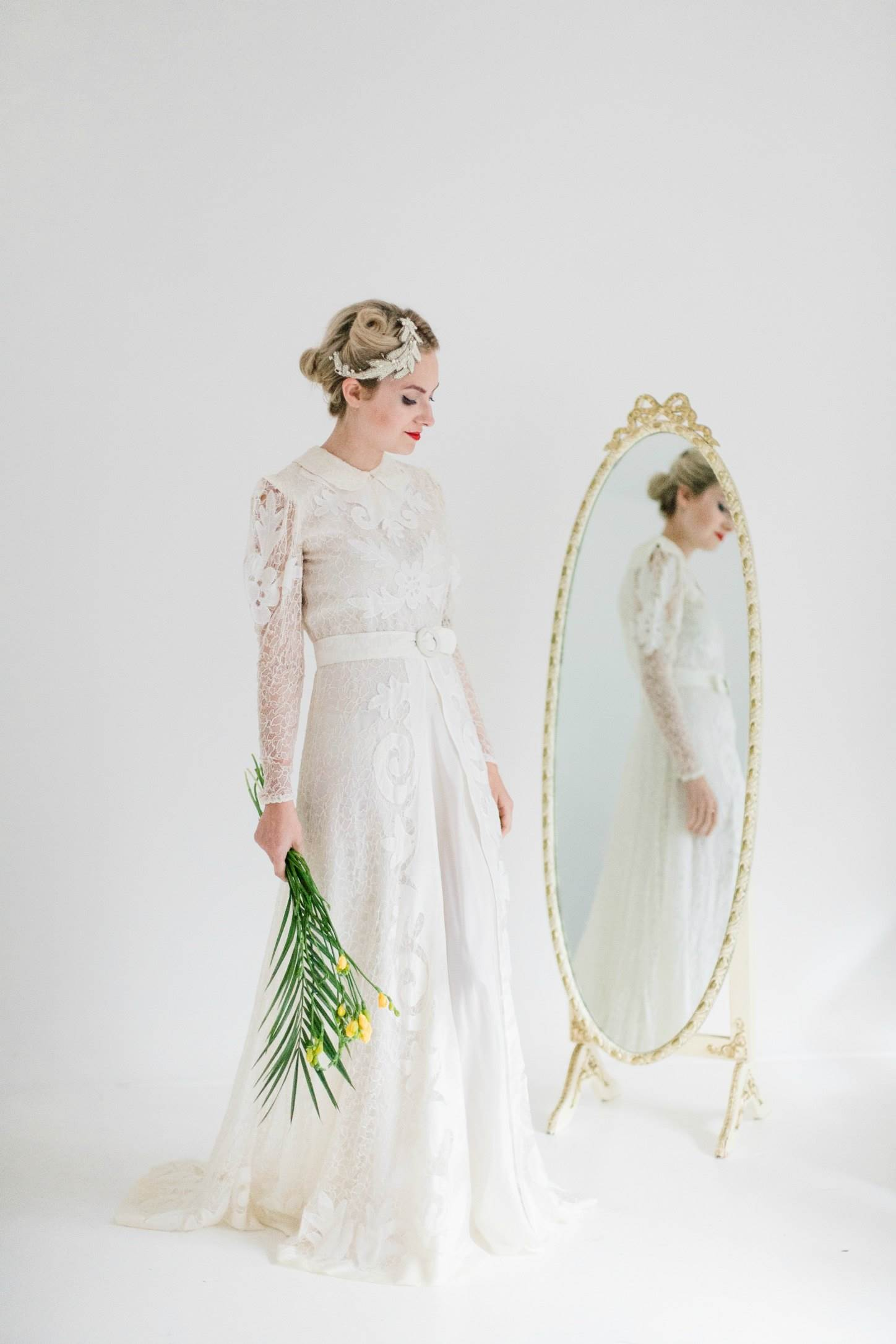 50 years of vintage wedding dresses photos by Claire Macintyre 1940s
