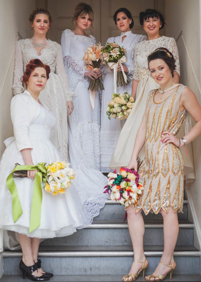 Chiswick London Vintage Wedding Dress fashion Parade by the National Vintage Wedding Fair