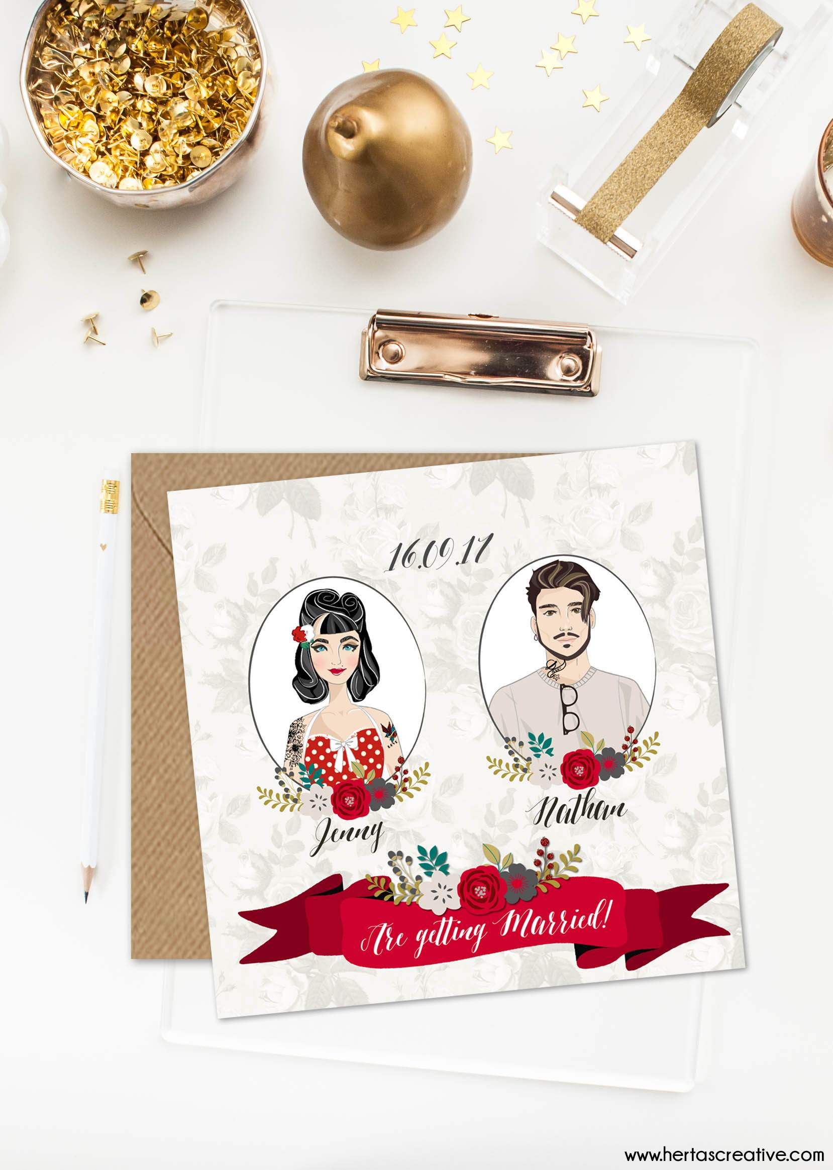 5 wedding stationery themes you will love by Hertas Creative