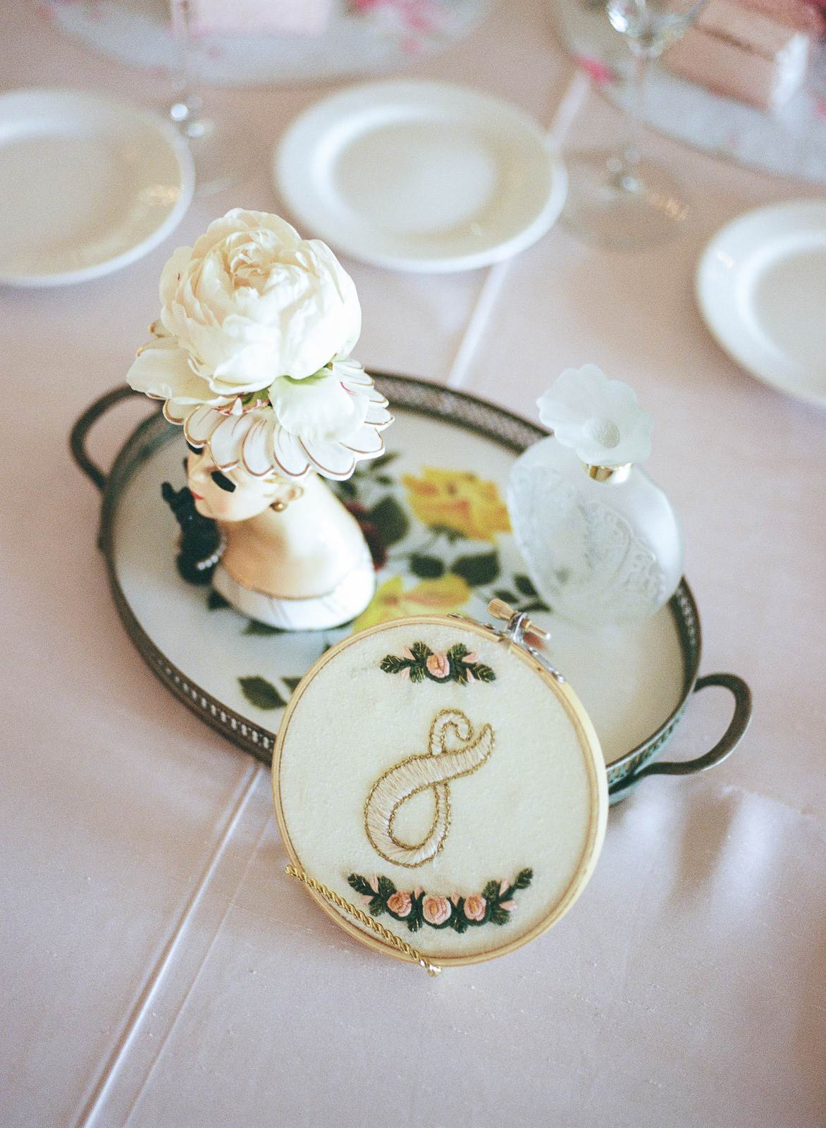 A pretty pastel wedding with vintage details