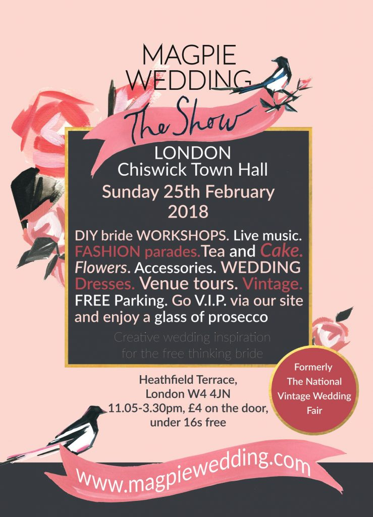 Magpie Wedding Show London Poster Spring 2018