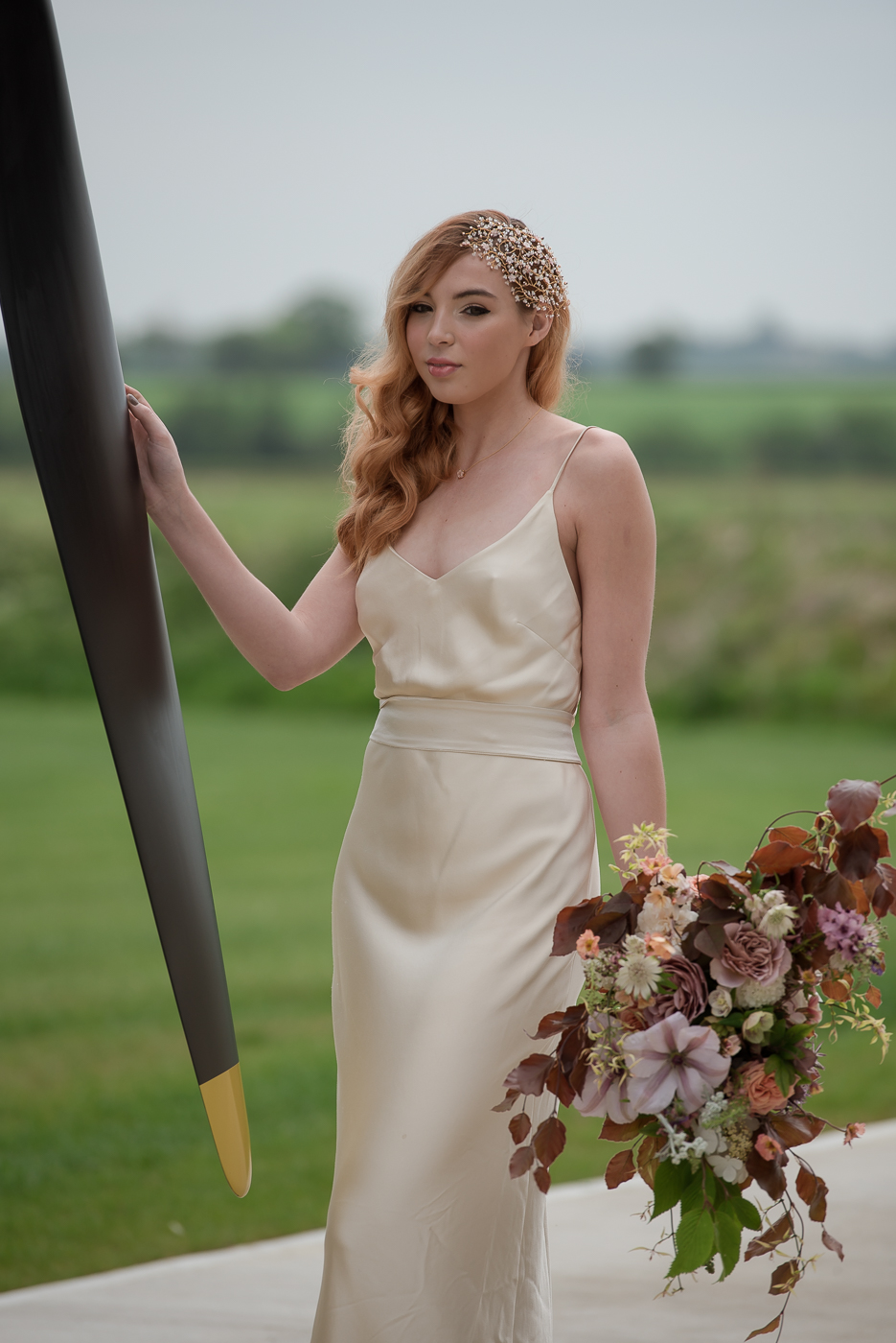 =Vintage 1940s wedding style with contemporary twist and a Hurricane