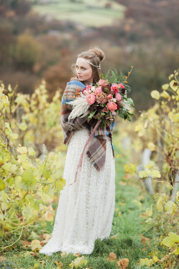 Copper and Blush Wedding Tones in a Vineyard