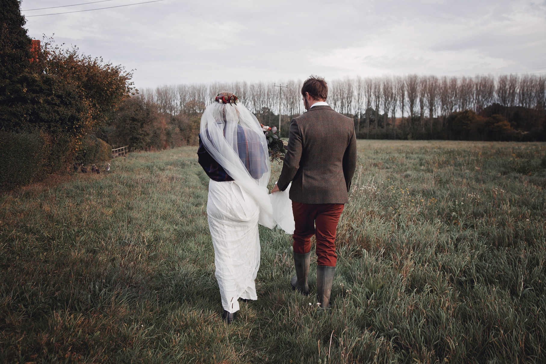 Ollie and Emily's Rustic DIY, Intimate and Relaxed Wedding Day