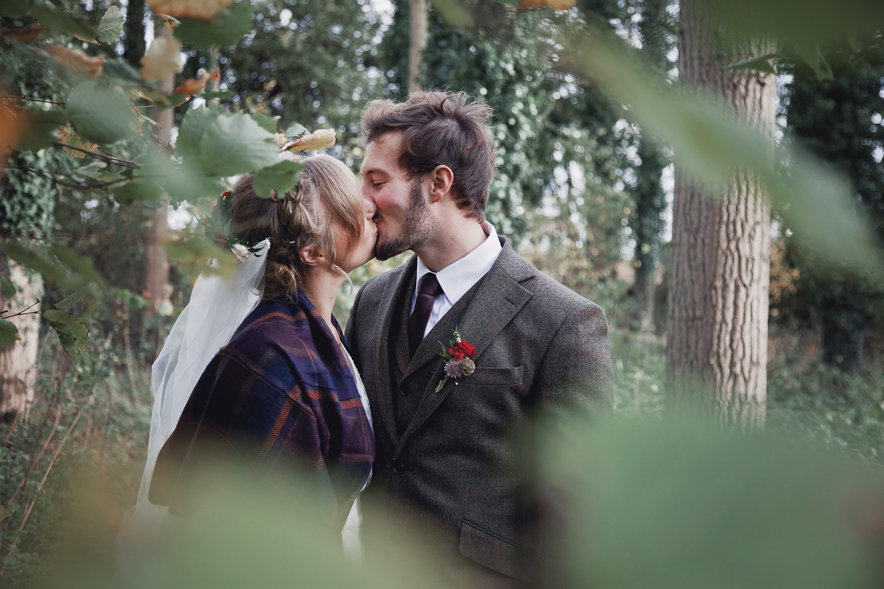 Ollie and Emily's Rustic DIY, Intimate Autumnal Wedding Day
