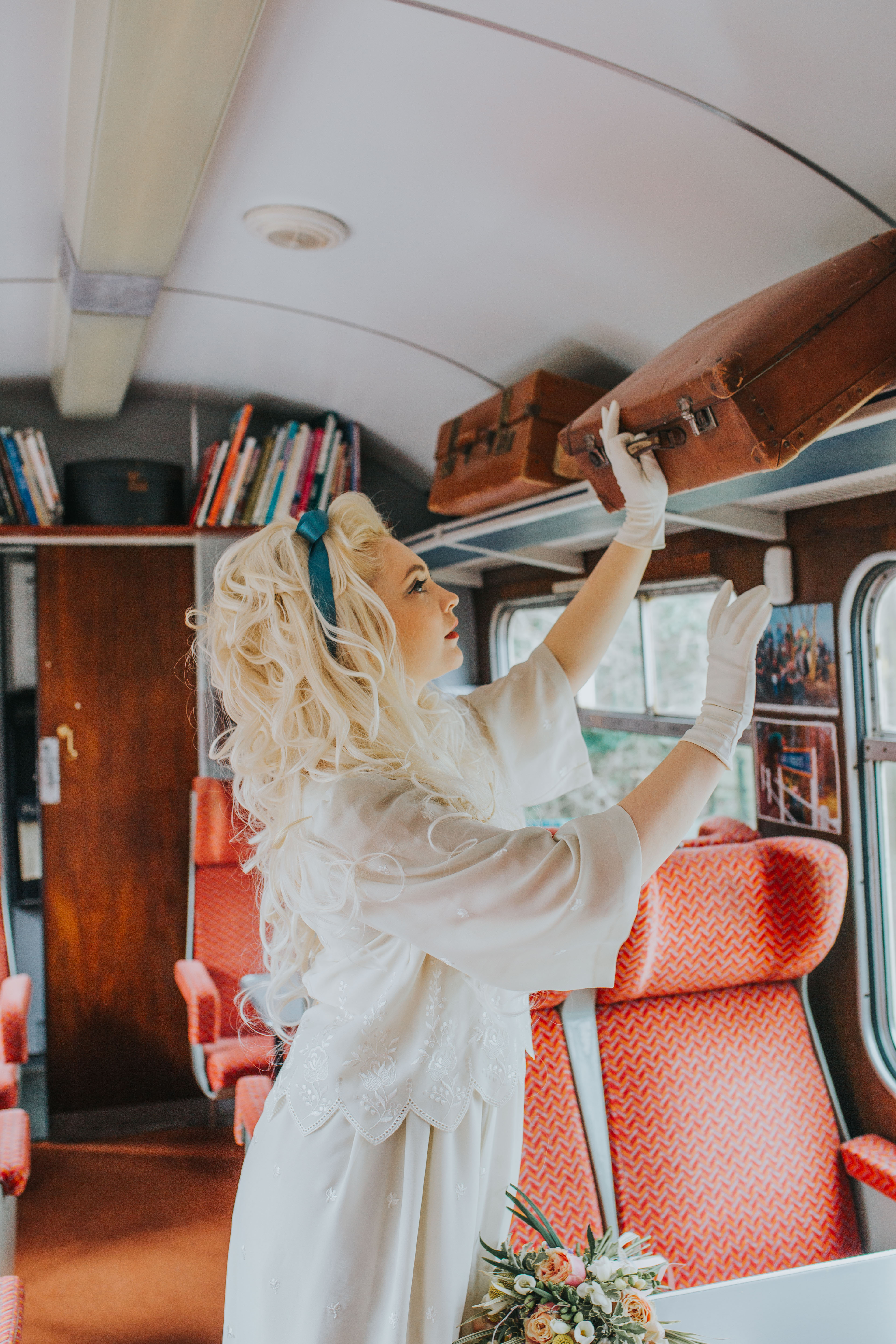 1960's Bridal Inspiration - A Charming Vintage Railway Shoot