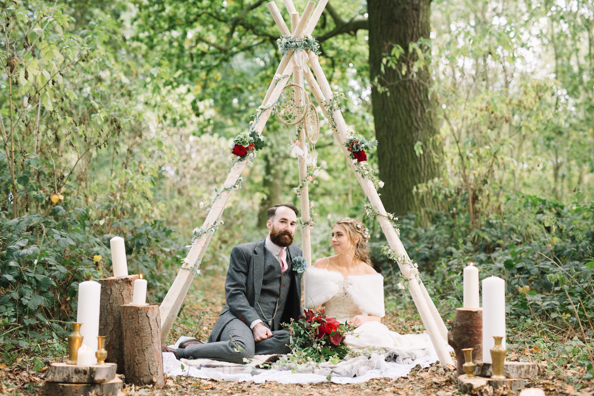 A Woodland Wonderland Wedding Journey at Kimbleton Castle