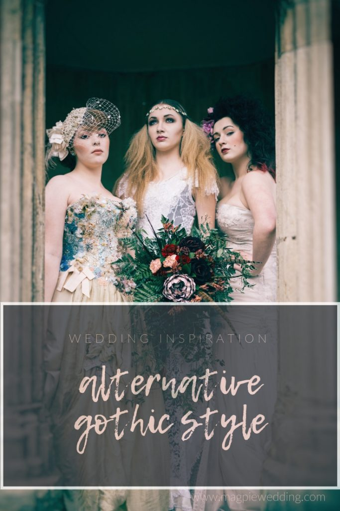GOTHIC STYLE WEDDING INSPIRATION- THE NIGHTMARE BRIDE AND ALTERNATIVE BRIDAL TRENDS by Magpie Wedding