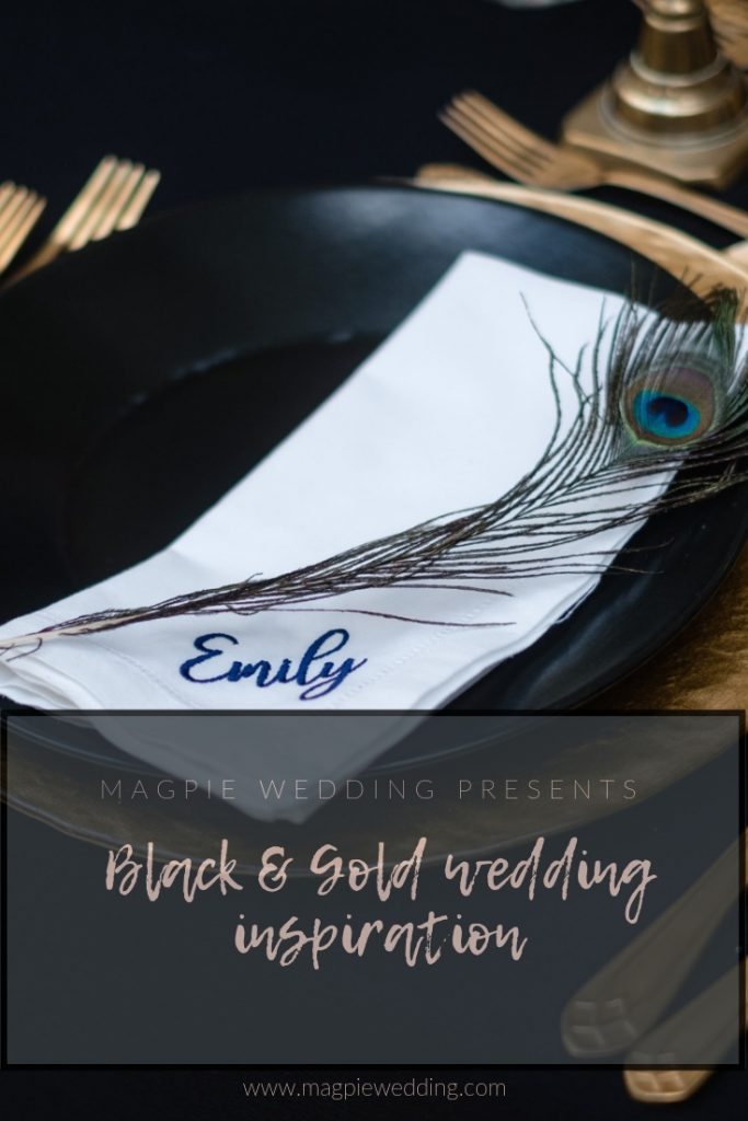 Black and gold wedding ideas