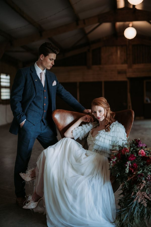 Industrial Luxe Wedding Inspiration with Blue and Copper Touches