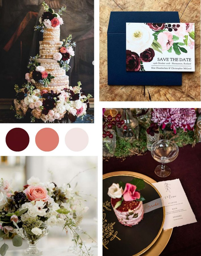 contrasting colours for your wedding