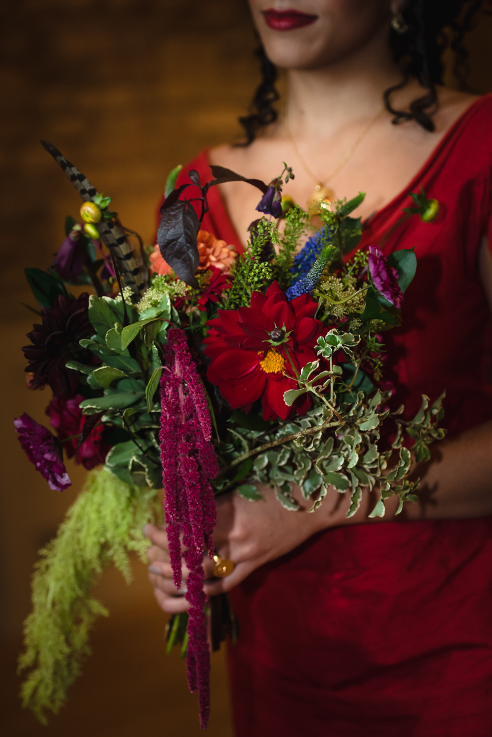 Ethical Wedding Ideas A Red Wedding Dress and Bespoke Accessories