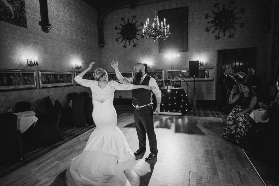 Black and Gold Wedding at Dalhousie Castle Scotland