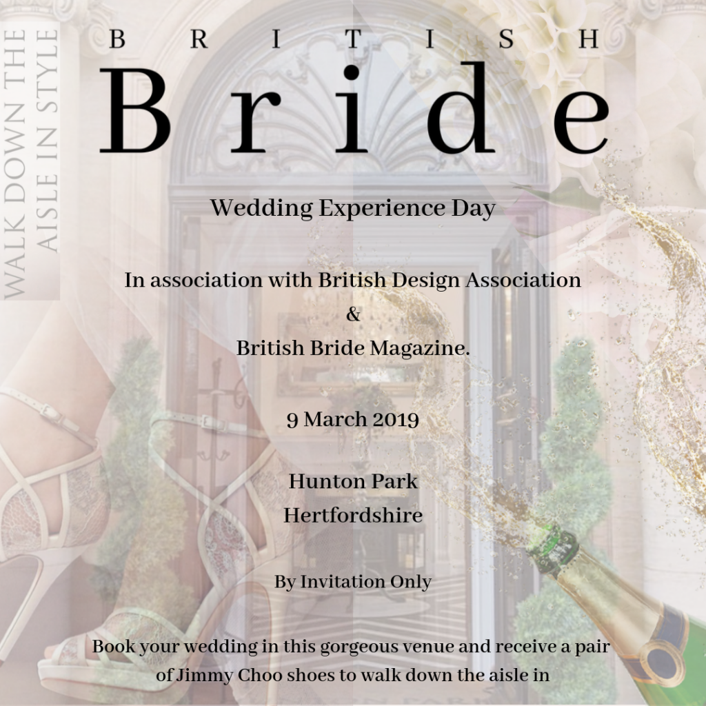 You're invited to British Bride Magazine's Wedding Experience at Hunton Park
