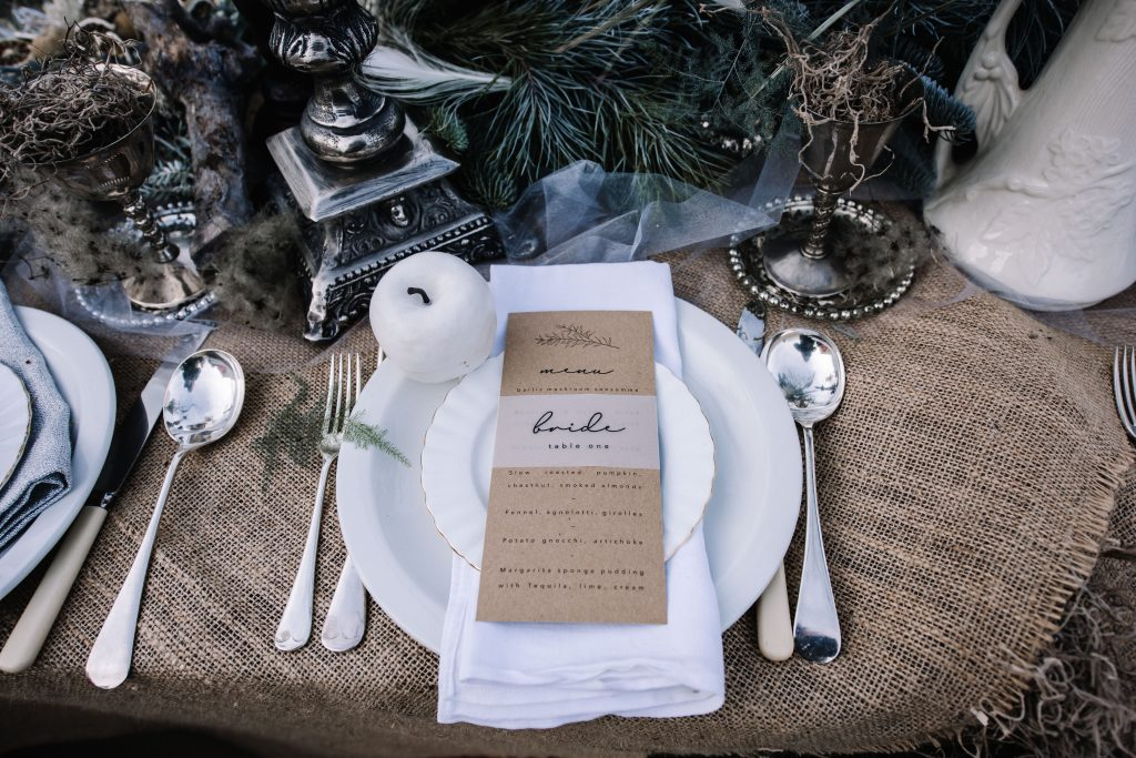 Alternative Winter Wedding Inspiration with Ethereal and Gothic Vibes